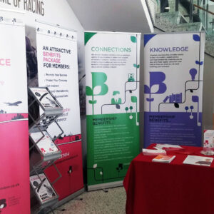 Cambridgeshire Chamber Roller Banners At Exhibition