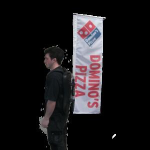 Backpack Flag 02, Domino's