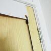 PVC door banner attachment hoops