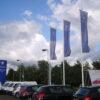 Peugeot Printed Fibreglass Flagpole