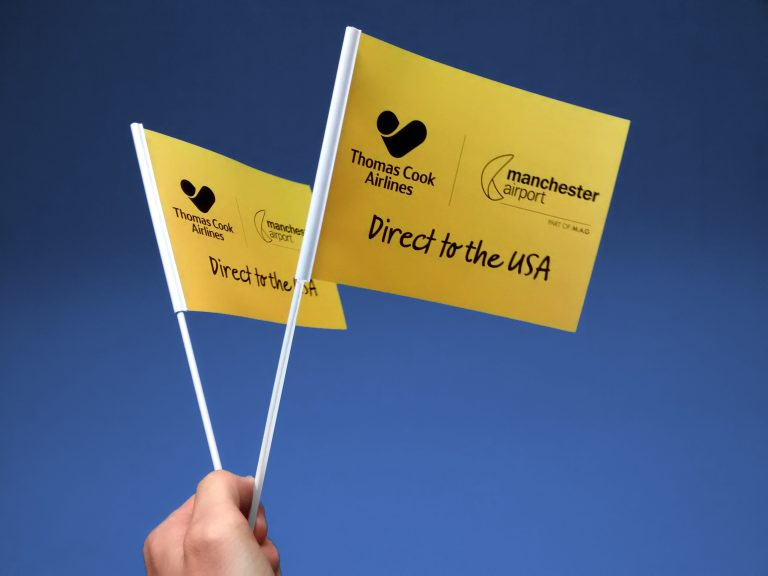 Hand waving flags - Thomas Cook Handwaver flag