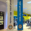Fit Space Ceiling To Floor Display Sign