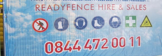 Construction Promotional Fence Banner