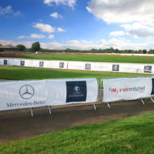 fence banners - Mercedes Event