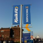 Lamp Post Banner For Kwik Fit