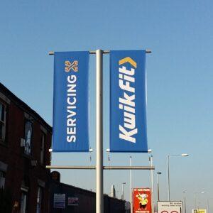 Kwik Fit Branded Lamp Post Banner