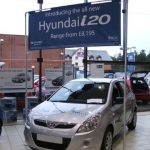 Hyundai Banner In Overhead Frame