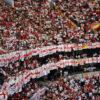 England large flags at football stadium