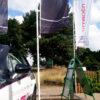 multiple Forecourt flags with while aluminium pole
