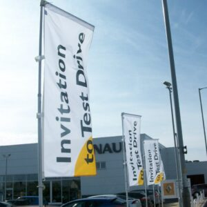 Telescopic Flagpoles - Renault Invitation To Drive