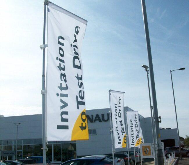Telescopic Flagpoles - Renault Invitation To Drive
