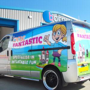 Partial vehicle wraps - Castle Fantastic Printed vehicles graphics