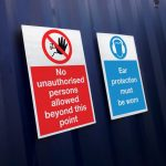 Correx signs - health & safety sign