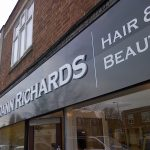 cut lettering for dann-richards hair and beauty