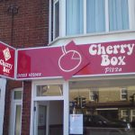 Cherry box take away projecting street sign