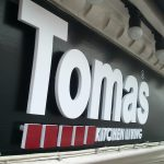 Tomas Kitchen branded PVC Foam lettering