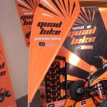 Quad bike branded Deco Tear flag
