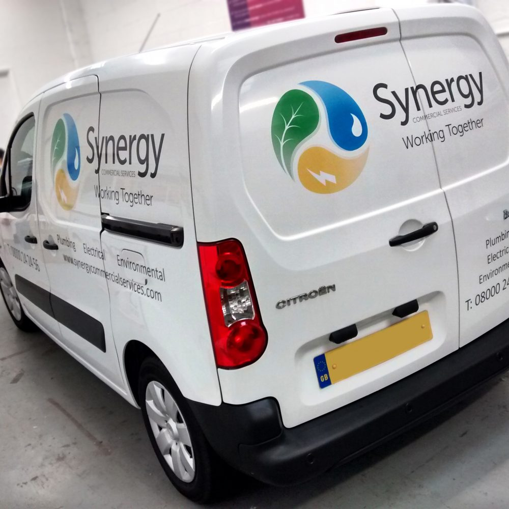 Vehicle graphics synergy custom branded van graphic