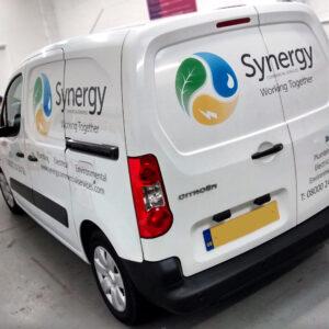 Vehicle graphics - Synergy custom branded van graphic