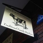 Butchers Custom hanging projecting sign