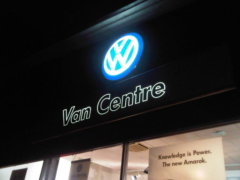 light box signs - VW logo lightbox