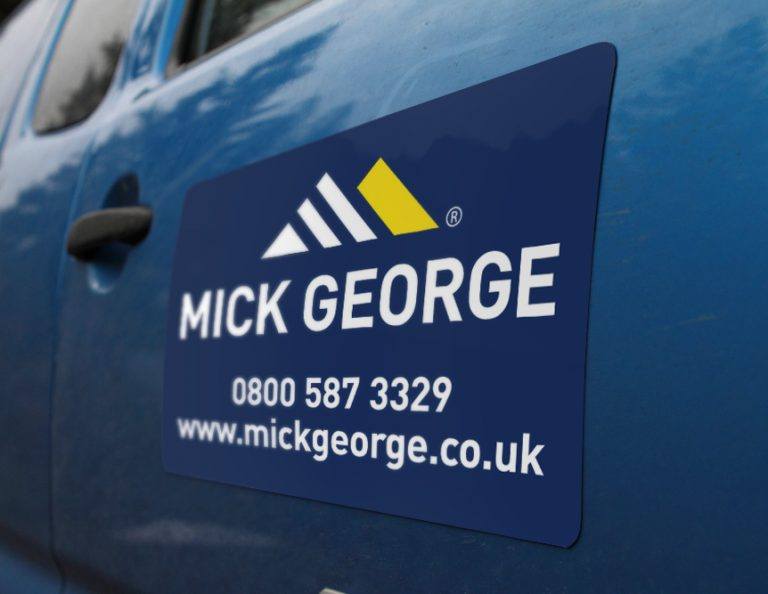 Informational Magnetic Vehicle Signs - Mick George UK