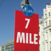 7 Miles Distance Plastic Sign