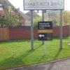 signature homes Panel & Post sign