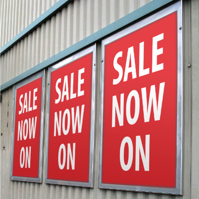 "Promotional posters - Cambridge - ""Sale now on"""
