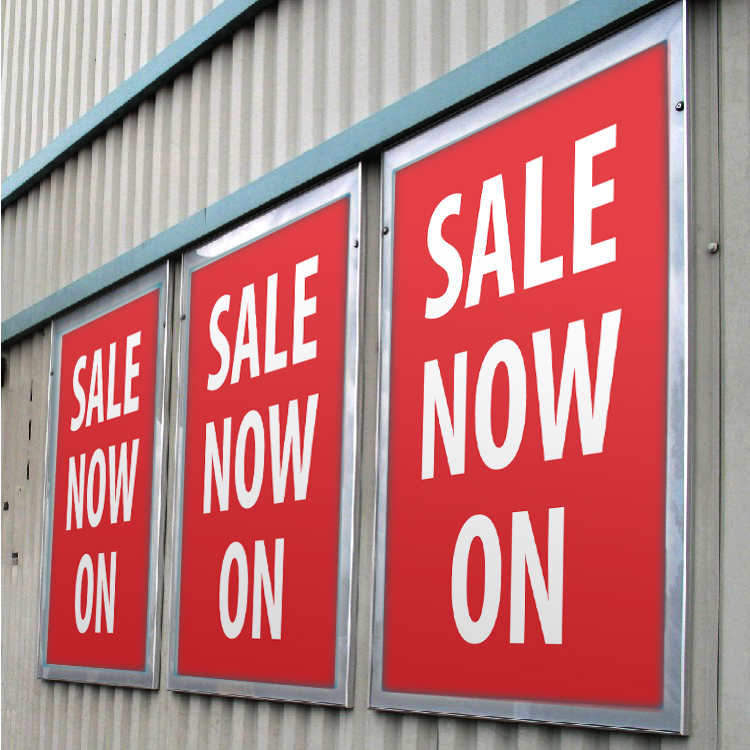 """poster printing - """"Sale now on"""""""