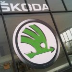 Skoda Logo window graphic