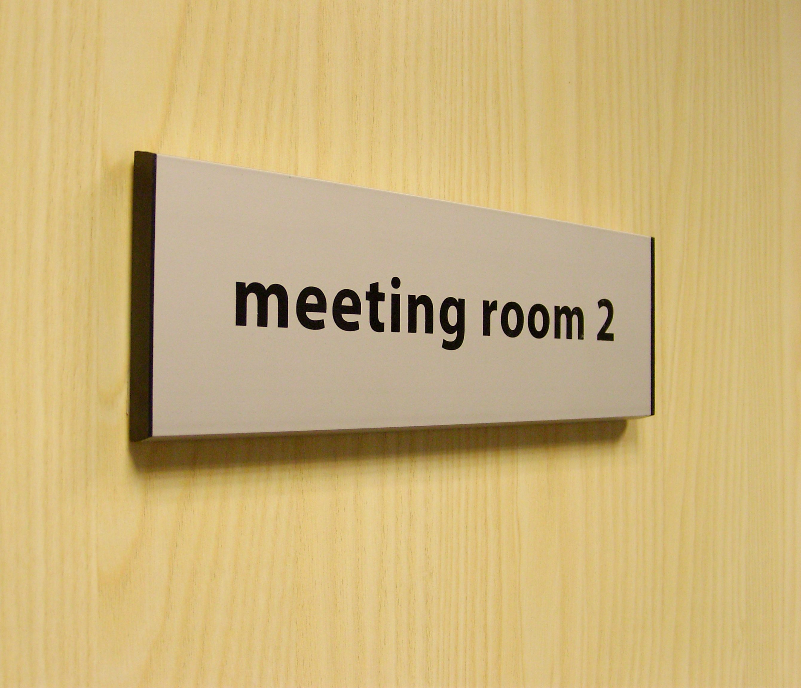Meeting Room Name Signs