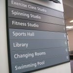 Gym layout sign