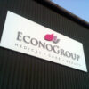 3D lettering on Econogroup sign