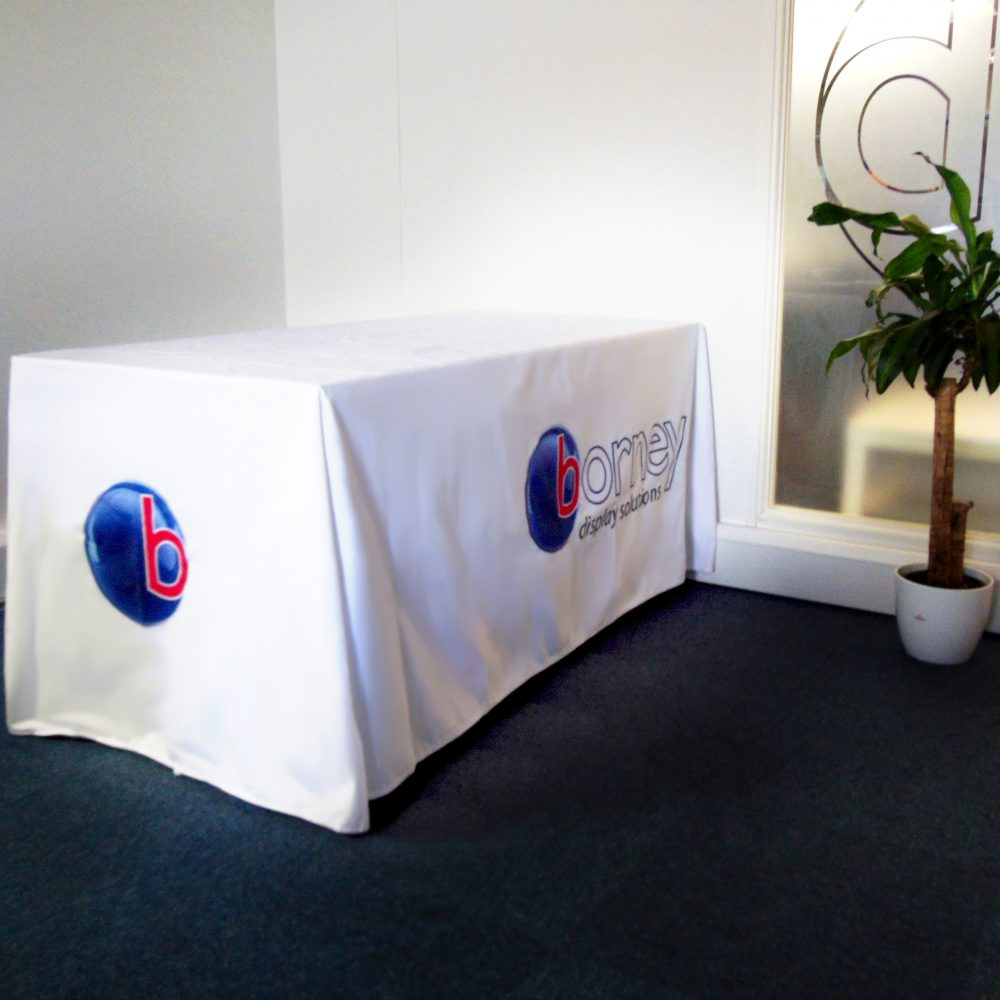 Custom Printed Tablecloths Perfect For Exhibitions