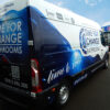 Time for change bathrooms branded full Van Wrapping