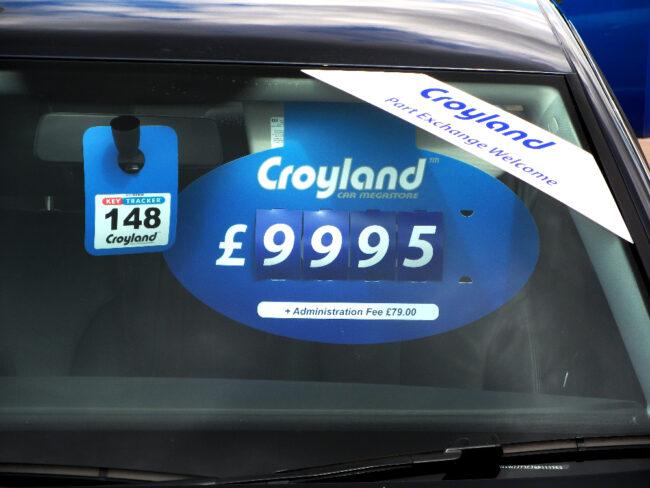 Price Visors - Croyland branded Vehicle pricing unit
