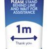 Social Distancing mini pop up sign